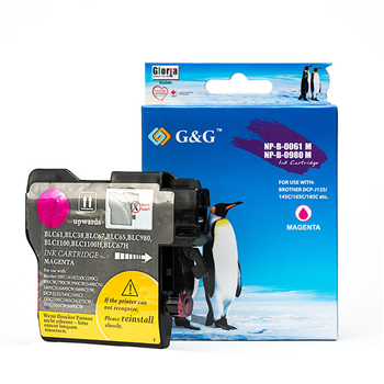 G&G Brother LC61M (LC61, LC 61) Compatible Magenta Inkjet Cartridge Brother MFC-490CW