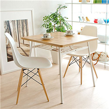 Merax Luxurious Eames Style Chairs Molded Plastic Side Chairs with Natural Color Wooden Base,set of 2 Merax Products