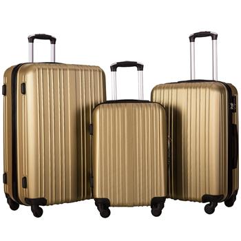 Merax Hylas 3 Piece Hardshell Spinner Luggage Set